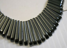 LOT OF NATURAL HAEMATITE 41 STICK 10-30MM ART DECO NECKLACE JEWELLERY MAKING N1A