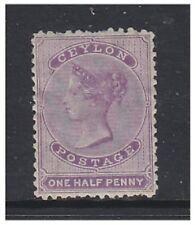 Ceylon - 1863/6, 1/2d Mauve (Perf 12 1/2) stamp - M/M - SG 48c
