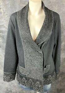 Country Door ARTSY Gray L/S Cardigan Sweater Jacket sz 1X (9062) NEW