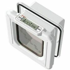 Cat Mate Elite Microchip Cat Flap with Timer Control White 355W