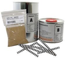 1,2 kg Epoxidharz, Gießharz, Rissharz, Estrichklammern, Sand, Estrich Sanierung