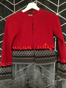 CATIMINI GIRLS CARDIGAN RED COLOUR AGE 10 EXCELLENT CONDITION