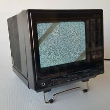 "Vintage 1986 La Petite 4.5"" Mini Portable Black & White TV Receiver With Case"