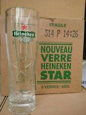 6 nouveaux verres HEINEKEN STAR 25 cl + 6 sous-bocks