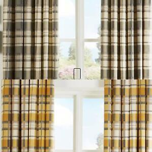 Caravan Curtains Check Lined Curtain For Caravans Ready Made Custom Window Door