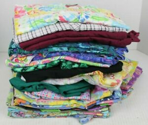 Scrub Tops Lot of Mixed Brands Women's Size LARGE and XL Pre-Owned SEE PICS