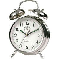 Acctim Saxon Chrome Alarm Clock