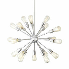 Starburst Sputnik Grayford 35in Chandelier 18 Light Brushed Nickel Atomic Edison