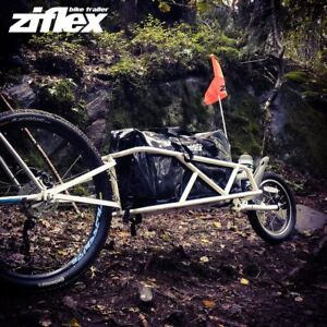 ZIFLEX® fahrradanhänger lastenanhänger anhänger gepäckanhänger mit tasche