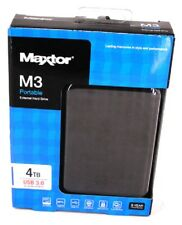 Maxtor Seagate M3 4TB Mobile External Hard External Black USB Portable 4 TB HDD