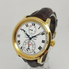Ulysse Nardin 1846 Le Locle Chronometer 18K Solid Gold 38mm Watch B&P