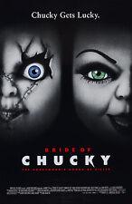Enmarcado impresión Novia de Chucky Movie Poster (película de terror arte juego de niños)