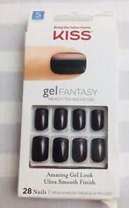 New KISS Gel Fantasy 28 NAILS Glue/Press-On Short Square 79874 Ultra Smooth