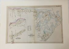 Original 1903 Map Town of Cohasset,Mass,Ma Old, Vintage Massachusetts