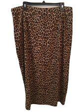Womens Size 18 Briggs NY Leopard Print Pencil Skirt Long