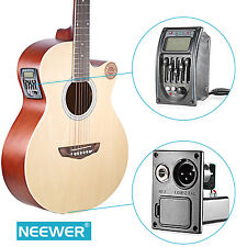 Neewer Acoustic 5-Band EQ Equalizer Guitar Preamp Piezo Pickup Tuner