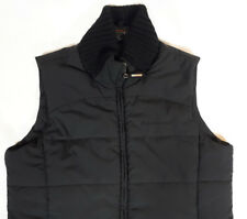 BLACK MOUNTAIN sz small black filled puffy zipper vest jacket women's