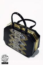 Hearts & Roses London Charismatic Box Goth Emo Punk Rocker Rockabilly Hand Bag
