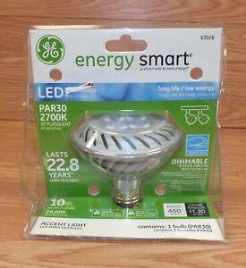 Genuine GE (63026) Energy Smart PAR30 Dimmable Flood Light Bulb **READ**