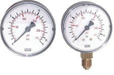 """Druckluft Manometer Ø63mm waagerecht od senkrecht G1/4"""" Vakuumeter Anzeige bar"""