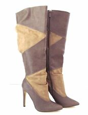 MICHAEL ANTONIO Taupe Tan JETT Knee High Side Zip Boot Size 6 1/2