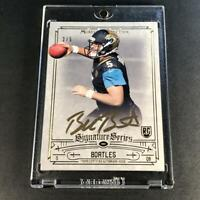 BLAKE BORTLES 2014 TOPPS MUSEUM COLLECTION #SSA-BB GOLD AUTO ROOKIE RC #'D /5 SP