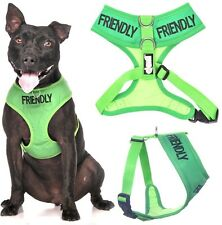 Dog Vest Harness Waterproof Padded FRIENDLY Non Pull Front Back Ring or Lead