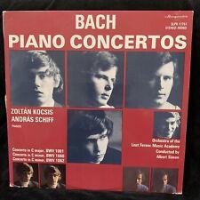 BACH Piano Concertos - ZOLTAN KOCSIS & ANDRAS SCHIFF - HUNGAROTON ST LP