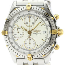 Polished BREITLING Chronomat 18K Gold Steel Automatic Watch B13050.1 BF509199