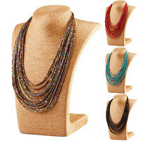 Bohemia Handmade Clter Multilayer Pendant Beads Long Necklace Jewellery