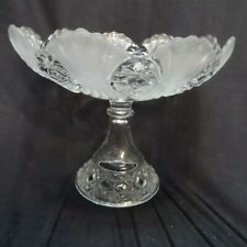 Beautiful Fagot (Vera) Pattern Glass Pedestal Compote Robinson Glass Co. 1898