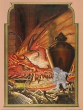 "Art Poster Print - LOTR Invisible Thief Bilbo & Smaug by Steve Hickman - 18""x24"""
