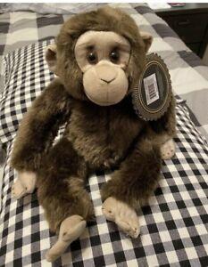 New FAO Schwarz Monkey Plush Stuffed Animal Chimpanzee High Quality Very Soft