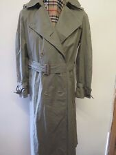Genuine Burberry Olive Green Mac Trench Coat Raincoat Size UK 16 R Euro 44