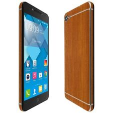 Skinomi Light Wood Skin+Clear Screen Protector for Alcatel A50 (Pulsem