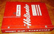 Hollander Parts Interchange Manual 1952-55 56 57 58 1959-62 Plymouth Olds Buick