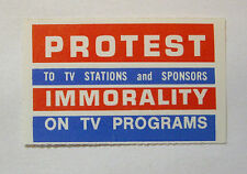 Cinderella 1964  PROTEST STAMP  (PROTEST IMMORALITY ON TV PROGRAMS)  MNH OG