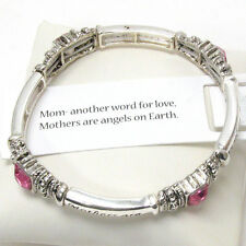 MOM Another Word For Love Mothers Are Angels On Earth Pink Mothers Day  Bracelet
