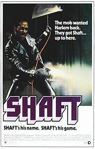 SHAFT Movie Poster Blaxploitation