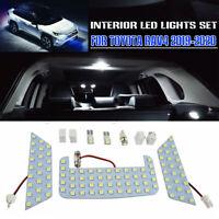 For Toyota RAV4 2019 2020 White Iterior Car LED Light Bulb Package Kit New