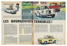 1964 DOCUMENT (ref Ips 1379)  AUTO  :  BMW MERCEDES GLAS 1204 TS  2 pages