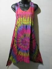 Dress Fits L XL 0X 1X Sundress Pink Purple Tie Dye A Shaped Sharkbite NWT G242