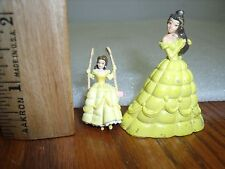 Disney Miniature Princess Belle Cake Topper 2 pc lot