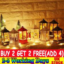 Christmas LED Light Up Lantern Xmas Santa Claus Table Lamp Ornament Decor TH UK