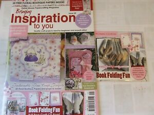 NEW! DEBBI MOORE INSPIRATION ISSUE 29 FLORAL BOUTIQUE COLL. - WITH CD & PAPERS