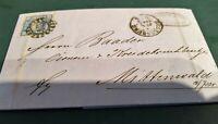 Bayern Kreuzer-Brief: 6 Kr. blau von 1865 von Regensburg - Mittenwald
