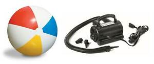 "Swimline 36"" Rainbow Inflatable Pool Lake Beach Ball Toy 110V Electric Air Pump"