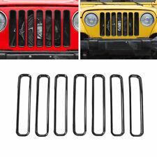 Front Upper Bumper Frame Grill Grille Black Fit For Jeep Wrangler TJ 1997-2006