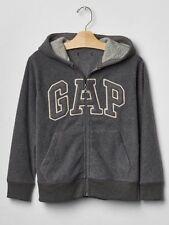 GAP Kids Boys Pro Fleece Arch Logo Zip Dark Gray Hoodie Sweatshirt XS 4 5 NWT$35