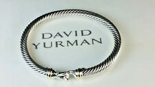 David Yurman 5mm Cable Classics Buckle Bracelet with Silver and 18K Gold